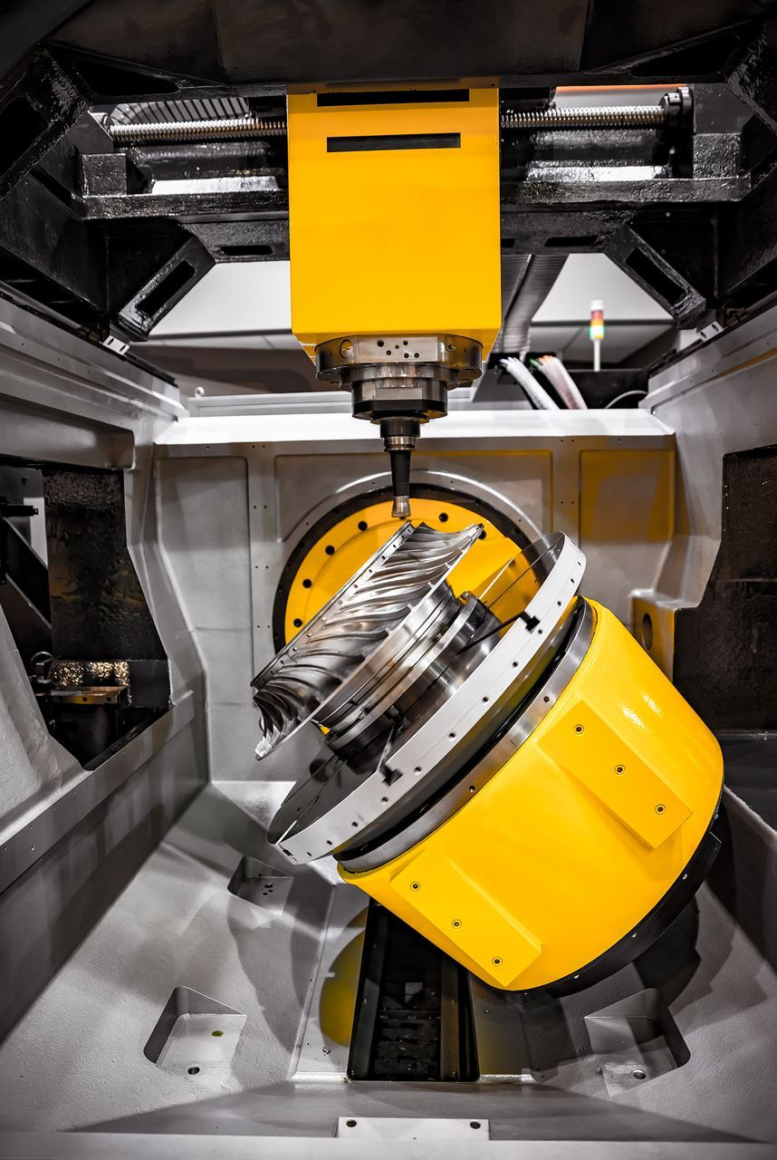 Yellow CNC Milling machine